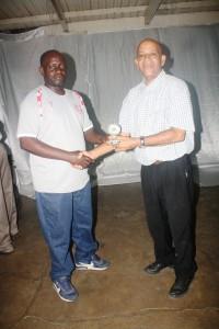 Frank receiving his award