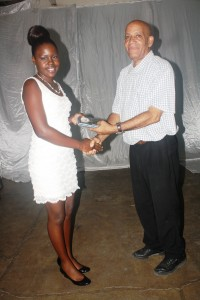 Nakeema lewis Youth club personality of the year